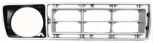 CPP Passenger Side Silver Grille Assembly for 1976-1977 Ford F-100, F-150, F-250