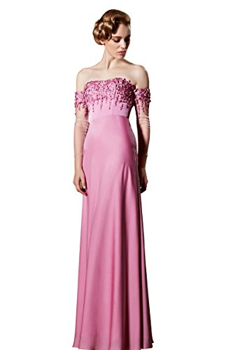 Satin Glam Formal Gown (Coniefox Women's Glam Mermaid Beadings Embellishment Formal Evening Dresses)