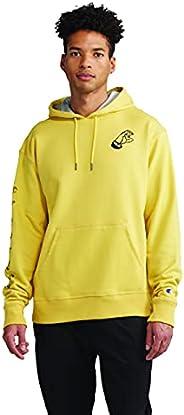 Champion Mens Powerblend Fleece Pullover Hoodie, Double Logo