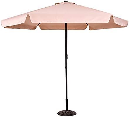 COSTWAY Sombrilla de Jardín de Hexágono 3M Parasol para Piscina Playa Terraza Protección Solar UV (Beige): Amazon.es: Jardín