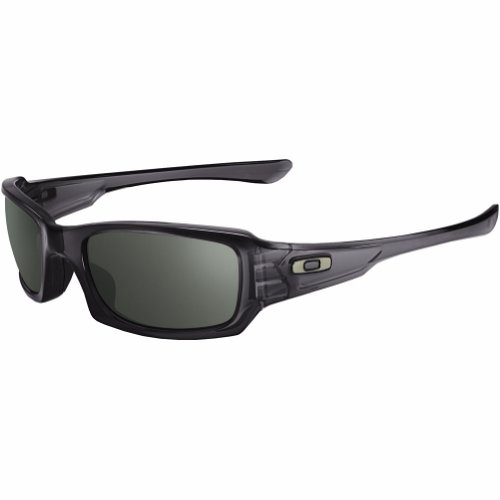 Oakley Mens Fives Squared Lifestyle Sunglasses, Grey Smoke/Warm Grey, One ()