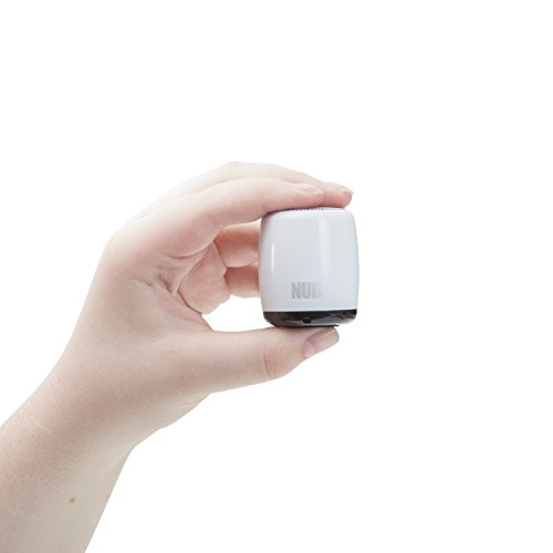 NUB Mini Bluetooth Speaker, Micro Sized, Ultra Portable, Loud Stereo Sound, Rechargeable, Built-in Mic