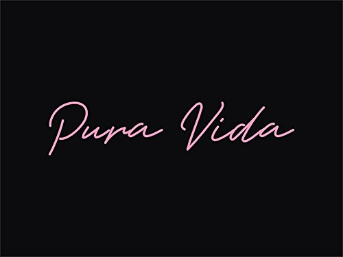 Pura Vida Real Glass Neon Sign For Bedroom Garage Bar Man Cave Room Home Decor Handmade Artwork Visual Art Dimmable Wall Lighting Includes (Pura Vida Wall Bar)