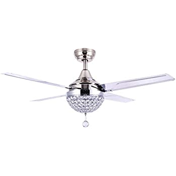 Bella Depot 44 Quot Modern Crystal Ceiling Fan With Led Light Remote Control Warm Light Amazon Com