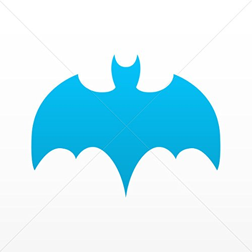 Sticker Batman Decor Room Durable Decoration Waterproof Racing Cars do Blue (6 X 4.54 In)