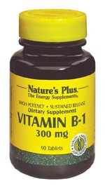 Vitamin B-1 300mg Time Release Nature's Plus 90 Tabs