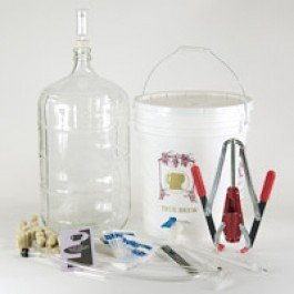 Winemaking.net Wine Making Starter Equipment Kit Strange Brew Strange Brew Complete Winemaking Starter Kit with 6 gal Glass Carboy by Winemaking.net Wine Making Starter Equipment Kit