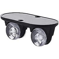 Glowki 16 Pack Mini Caster Wheels Rigid Fixed Non Swivel Casters Plastic Wheels for Storage Box Adhesive Caster Stick On…