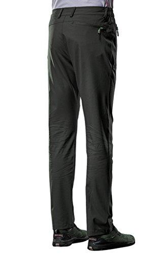 King Shield Men's Windproof Waterproof Softshell Outdoor Sports Hiking Pants (3XL/US 33, 23#Green)