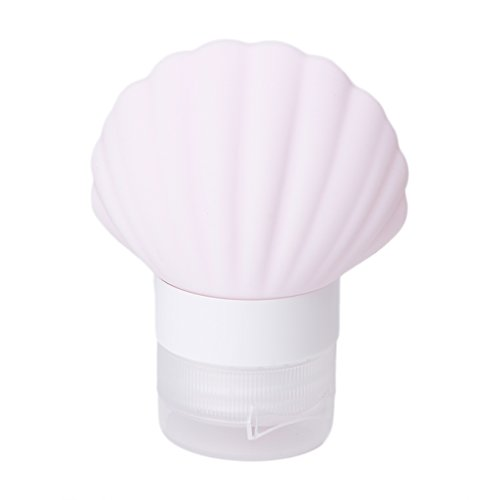 Susada 40ml Silicone Squeeze Travel Bottle Seashell Shape Empty Container Tube (Pink)