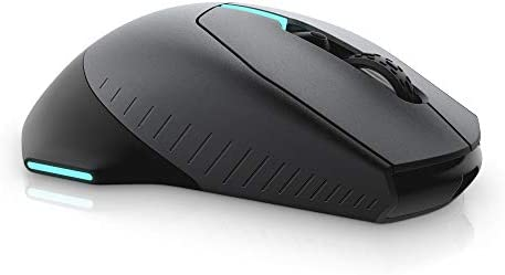 Alienware Wired/Wireless Gaming Mouse AW610M: 16000 DPI Optical Sensor – 350 Hour Rechargeable Battery Life – 7 Buttons – 3-ZONE Alienfx RGB Lighting 31nDowVt4zL