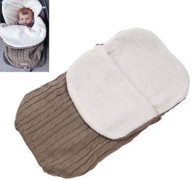 Newborn Baby Blanket Baby Baby Knit Soft Warm Fleece Lined Blanket Thicken Sleeping Bag Baby Stroller Unisex Boy Girl,Blue