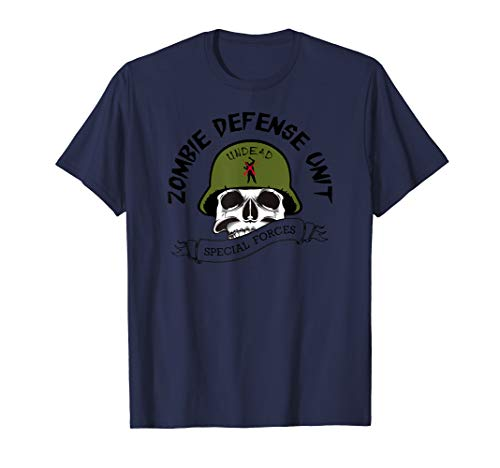 Zombie Hunter T-Shirt Special Forces Zombies Soldier Tee -