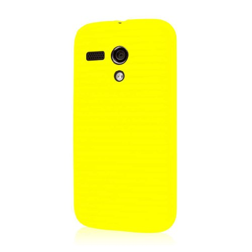 EMPIRE Gruve Full Protective TPU Case with Screen Protector for Motorola Moto G - Yellow (Motorola Moto G Best Price)