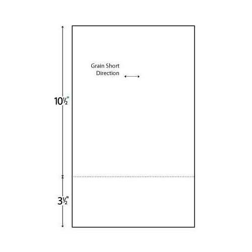 24lb Horizontal 8.5 X 14 Perforated Paper @ 3.5'' Case by Performance Office Papers