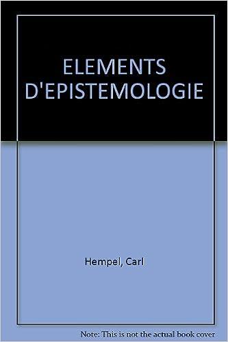 Télécharger en ligne Eléments d'épistémologie epub, pdf