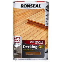Ronseal Ultimate Protection Decking Oil 5L - Natural Cedar