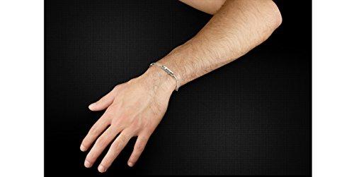 Lui de Clio Bracelet maillons CrossMan en argent 925 rhodié noir, brillant, 7.96g