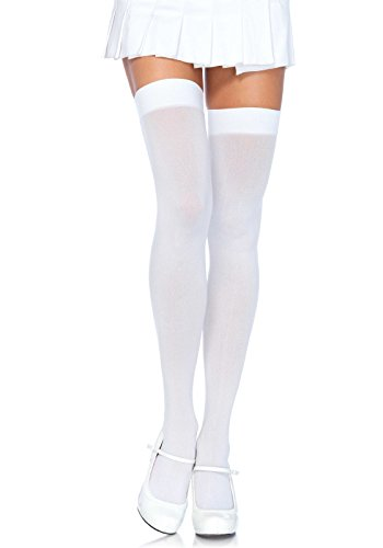 Leg Avenue Womens Plus Size Solid Hue Thigh Highs
