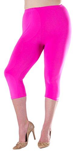 Lush Moda Extra Soft Leggings - Variety of Colors - Plus Size - Fuchsia