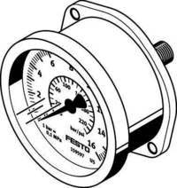 Festo 159602 FMA-63-10-1/4-EN FLANGED Pressure Gauge Festo Ltd