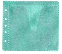 100 CD Double-sided Refill Plastic Sleeve Green ()