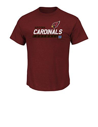 (VF LSG NFL Arizona Cardinals Men's Passing Game Program Short Sleeve Basic Tee, Small, Bright)