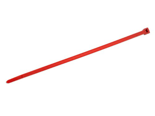 Connect - 30295 Hellerman Cable Tie 200mm x 4.6mm Red T50R Pack 100