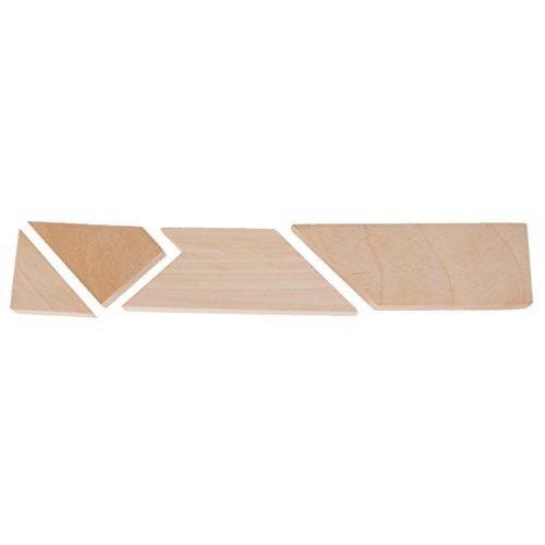 【ノーブランド品】4個木材チップ パズル おもちゃ 伝統的 ゲーム 家庭のプレイ キッズ ギフトの商品画像