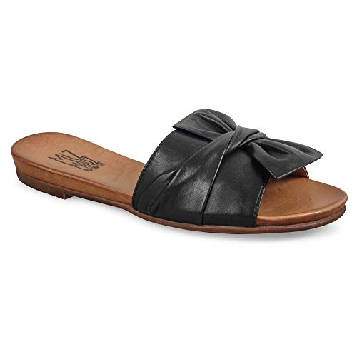 Miz Mooz Women's Angelina Sandal, Black, 7 M US