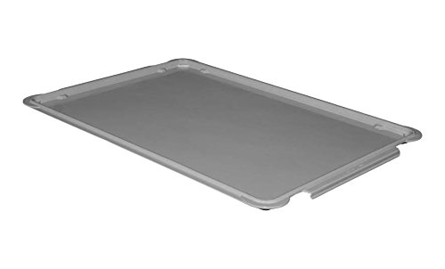Toteline 8870085136 Lid for Stacking Containers 870008, 880008, Glass Fiber Reinforce, Plastic Composite, 25.75'' x 17.75'', Gray by Toteline