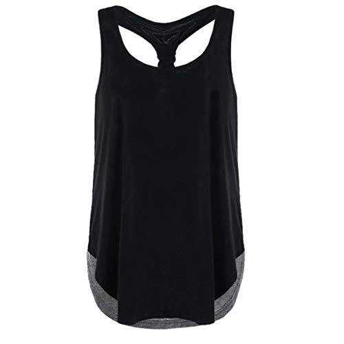 New Summer Tops for Women 2018 Women Lace Splice Tank Tops Ruched Sleeveless T-Shirts Ladies Blouse Vest Tunique Femme Gray XL]()