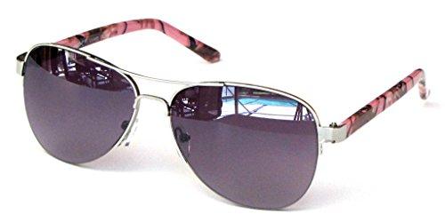 Women's Camouflage Sunglasses Aviator – Pink Camo Frame Smoke - Frames Pink Glasses Camo
