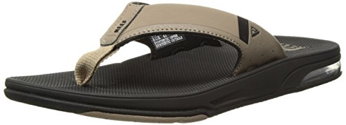 Reef Fanning Low Mens Sandal Black-Tan 13
