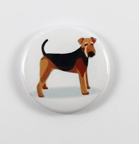 Airedale Terrier (4) Pin Back Button