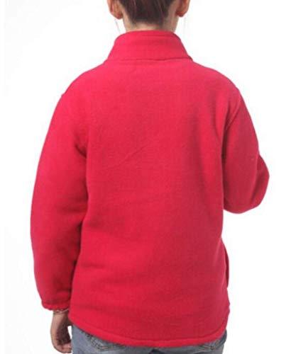 Da Casual Donna Frontale Felpa Calda Con Cappotto Manica Zip Cappuccio A Red Tupath Lunga Rose g5qnTp