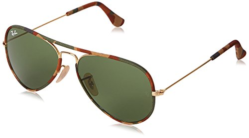 Ray-Ban Aviator Full Color, Green Classic  Polarized Lenses, - Ray Lenses Aviator Plastic Ban