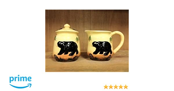 Amazon.com: Tuscan Bear Collection Hand Painted Creamer and Sugar Set, 86432 By ACK: Cruets: Kitchen & Dining