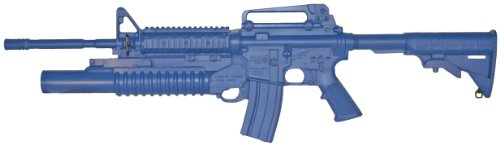 ACK, LLC Ring's Blue Guns Training Weighted M4 Open Stock, Forward Rail, M203 Grenade (Airsoft Grenade Launchers)