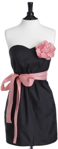 Jessie Steele Bib Strapless Apron, Black with Pink Trim (Jessie Steele Salon Apron compare prices)