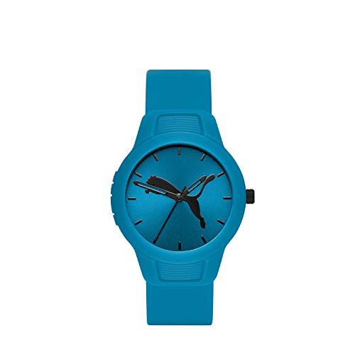 PUMA Women's Reset Quartz Watch with Polyurethane Strap, Blue, 18 (Model: P1014)