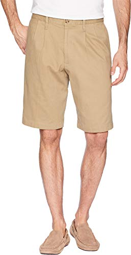 Dockers Men's Classic Fit Double Pleat Short New British Khaki 1 32 10 by Dockers
