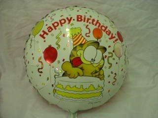 Bl251 Wbt 18 Inch Garfield happy Birthday Foil Balloon