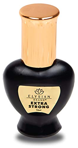 Eyelash Extension Glue -10ml - Extra Strong Professional Black Eyelash Glue with 1 Sec Dry Time - Maximum Hold and Waterproof for Individual and Volume Lashes with 7-8 Weeks Retention by Elysian Brand