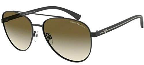 Emporio Armani EA 2079 MATTE BLACK/BROWN SHADED 58/16/140 men Sunglasses