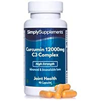 Curcumine 12000mg C3 Complexe | 90 Gélules |Adapté aux végétaliens | Jusqu'à 3 mois de bienfaits |SimplySupplements