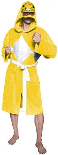 [Power Rangers Men's Mighty Morphin Robe, Yellow, One Size] (Yellow Ranger Costumes)