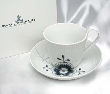 Royal Copenhagen (ROYAL COPENHAGEN) black fluted mega high handle cup u0026 saucer 2541-092 [ parallel goods ] ()
