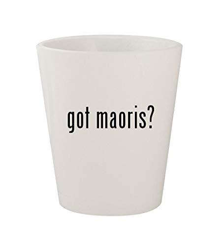 got maoris? - Ceramic White 1.5oz Shot Glass