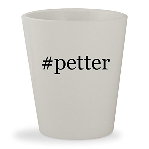 #petter - White Hashtag Ceramic 1.5oz Shot (Petter Pan Costume)